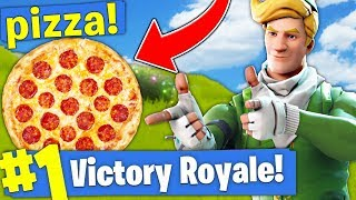 GETTING PIZZA IN A MIDDLE OF A ROUND!? - Fortnite Battle Royale