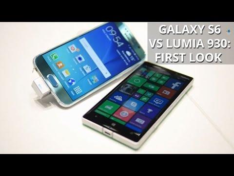 Samsung Galaxy S6 versus Nokia Lumia 930: first look