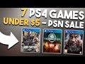 7 More PS4 Games UNDER $5 Right Now! (PSN Flash Sale 2018)