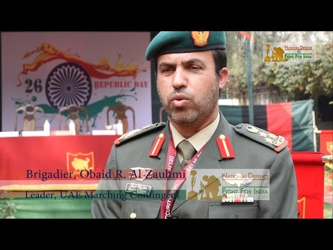 UAE Contingent Participates In Republic Day 2017 | Contingent Leader Brig. Obaid Speaks