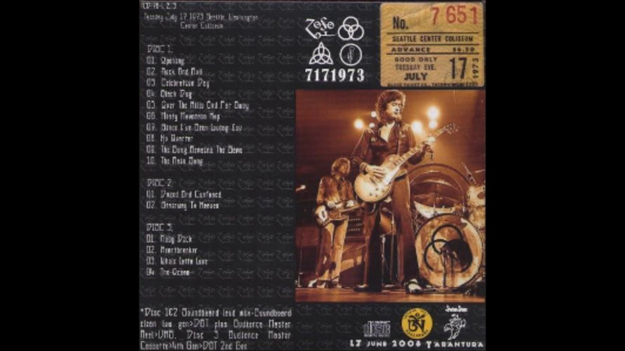 Led Zeppelin/No Quarter/Seattle 1973