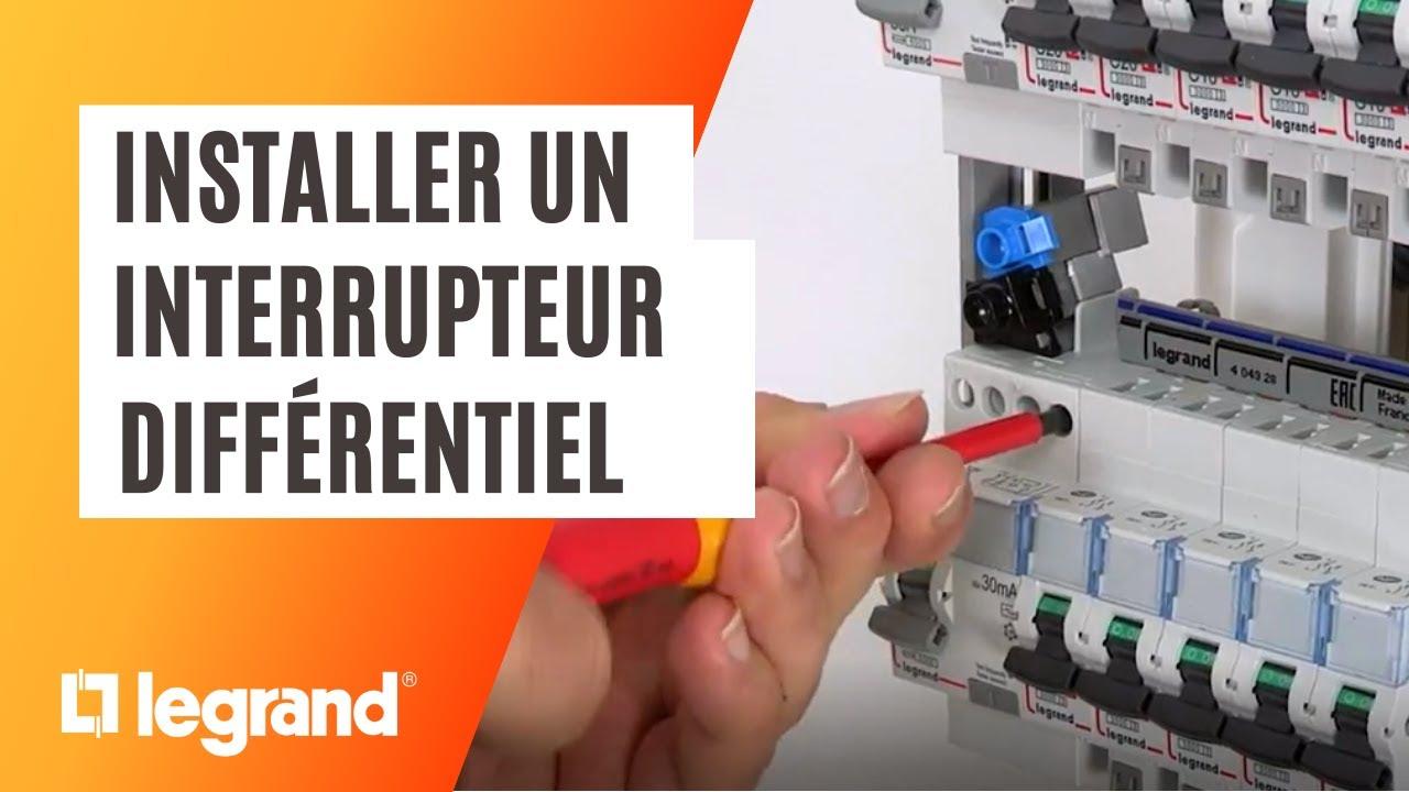 Download Installer un interrupteur différentiel Legrand dans son tableau électrique