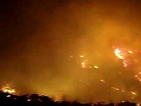 Night Burning - California Wildfire 2007