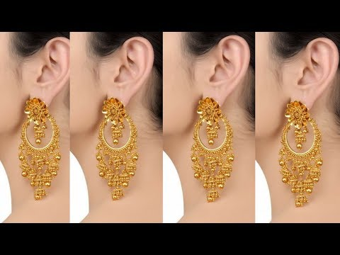 Latest Light Weight Gold Earrings Designs With less Weight  Jewellery collection  Daily Fashion