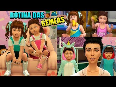 THE SIMS 4| ROTINA DA MANHÃ DAS GÊMEAS NAS FÉRIAS!