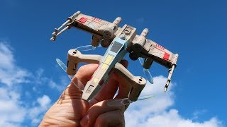 AMAZING Star Wars Drones! - Propel X Wing Tie Fighter & Speeder Bike Quadcopters - TheRcSaylors