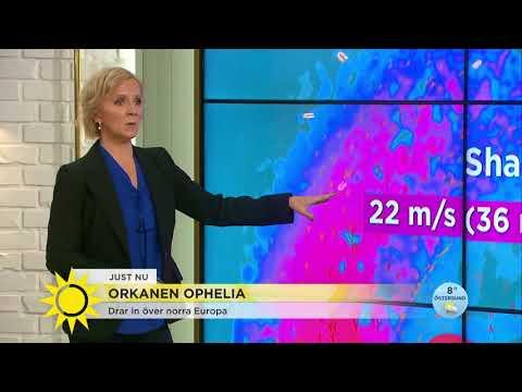 """Så drabbas Sverige av orkanen Ophelia: """"Aldrig haft en så kraftig orkan"""" - Nyhetsmorgon (TV4)"""