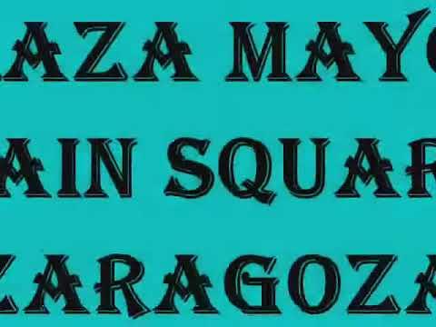 Zaragoza - Capital City of Aragon, Spain