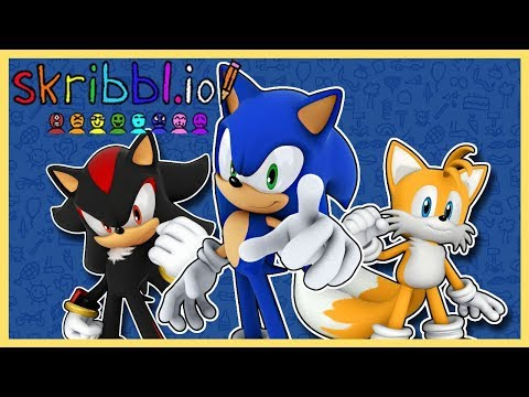 TAILS IS NOT AN ARTIST!! Sonic, Tails & Shadow Play Scribbl.io