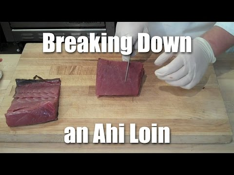 How To Break Down Ahi For Steaks And Sashimi