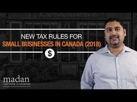 New Tax Rules for Small Businesses in Canada (2018)