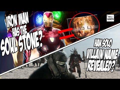 Iron Man Soul Stone Theory | Han Solo Movie Villain Name | NERDY NEWS