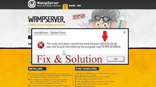 FIX WAMP Installation error msvcr120.dll msvcr110.dll missing