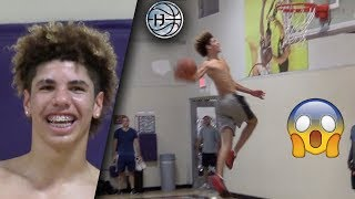 LaMelo Ball CRAZY WINDMILL DUNK! 1 Week After Dropping Out of CHINO HILLS has INSANE BOUNCE!