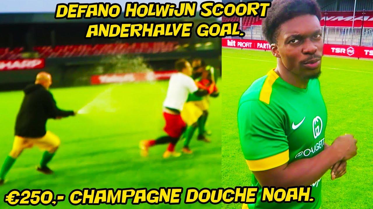Defano Holwijn Scoort anderhalve goal, 250 euro champagnedouche voor Noah!