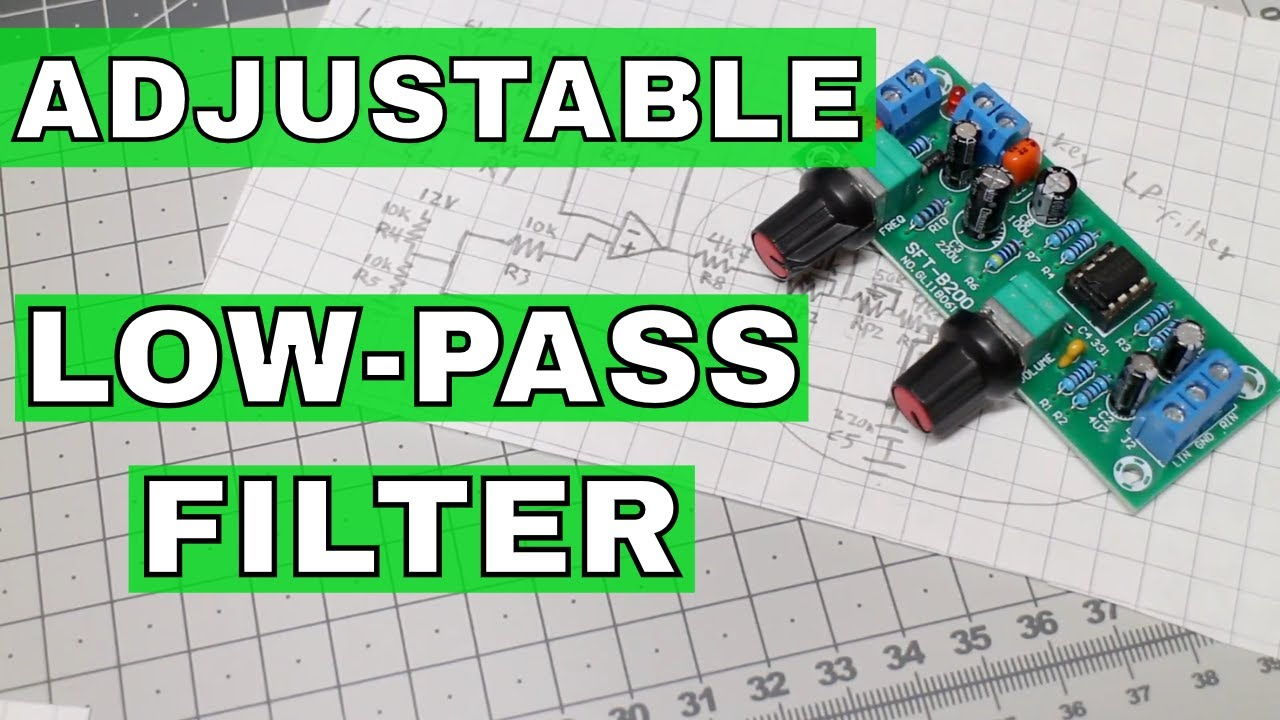 Adjustable Low-Pass Filter (Sallen-Key Filter) |From ICStation com