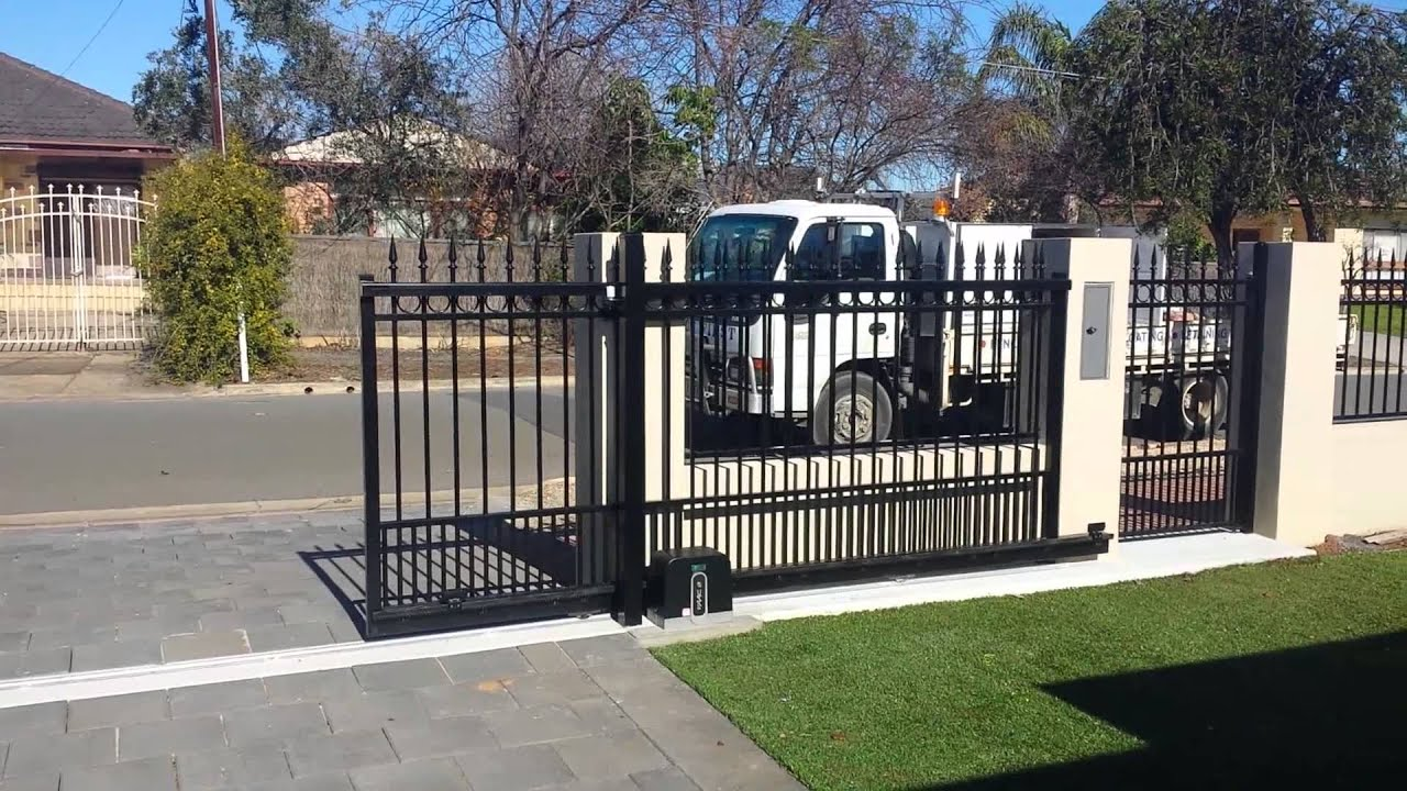 Fence First Electric Gate Automation Faac C720 Youtube