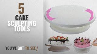 Top 10 Cake Sculpting Tools [2018]: Okayji Plastic Cake Decorating Turntable, 28cm, White