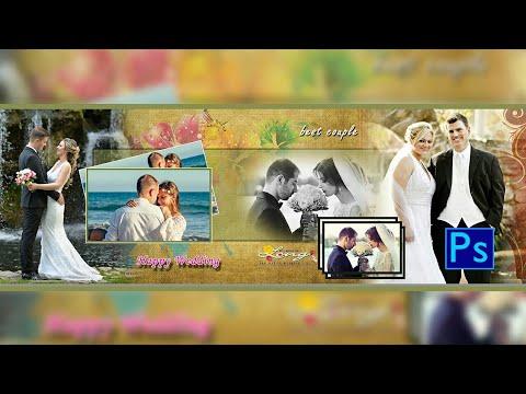 Wedding album design in Photoshop - 01
