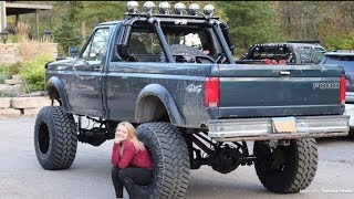 Lifting My Rear End 10 Inches! + 40 Inch Tires | 96 F-250