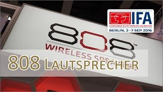 IFA 2016: 808 mobile Lautsprecher vorgestellt - Lineup Übersicht
