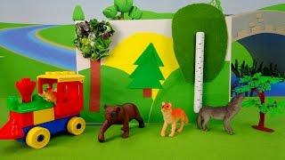 Видео для детей. Аппликация Лес. Животные леса