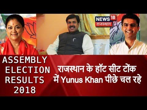 राजस्थान के हॉट सीट टोंक में Yunus Khan पीछे चल रहे | Counting Results LIVE Update