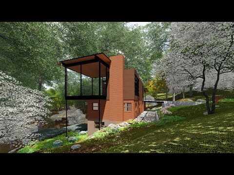 Usonian House Renovation Old to New 3D Green Planet Architects  Lumion + Revit + Adobe