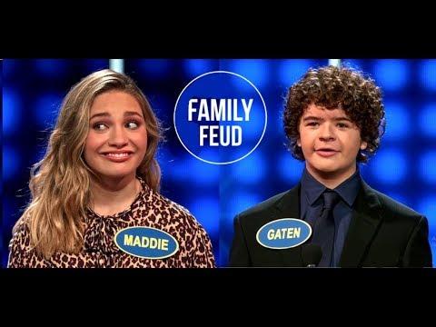 Maddie Ziegler And Gaten Matarazzo   Celebrity Family Feud Full Episode
