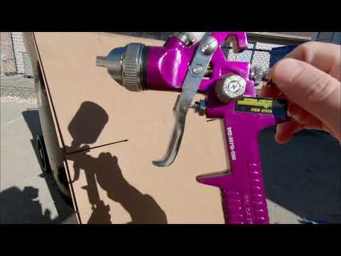 Basic Harbor Freight Spray Gun Controls | Ep 2
