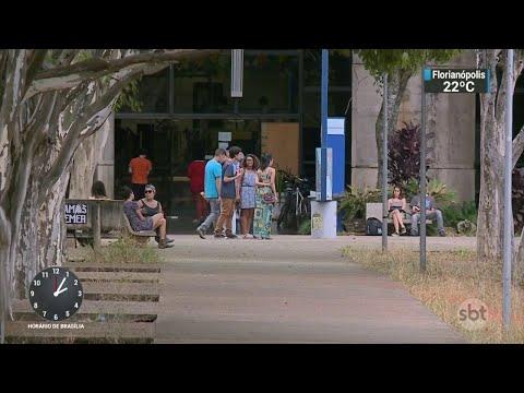 Homem invade campus da Universidade de Brasília e agride aluna | SBT Notícias (03/05/18)