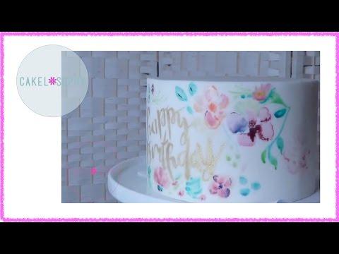 Как Рисовать на Торте: Aкварельный эффект / Painting On Cakes