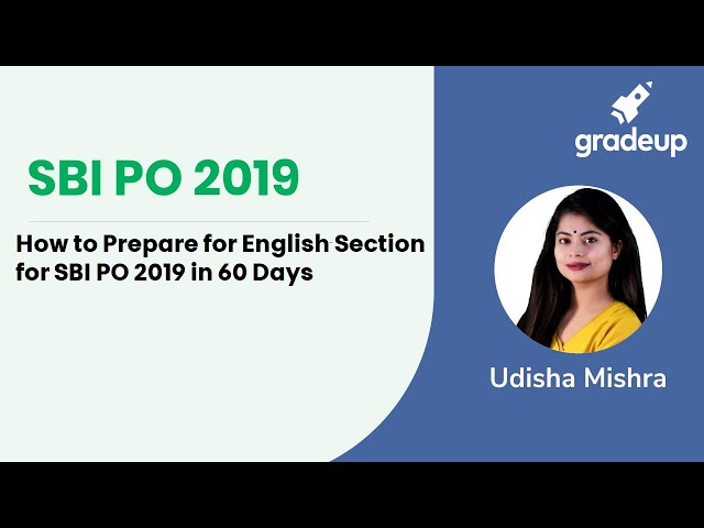 How to Prepare English for SBI PO 2019 in 60 Days