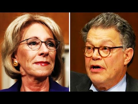 Al Franken SLAMS Betsy DeVos for Her Support of LGBTQ Conversion Therapy