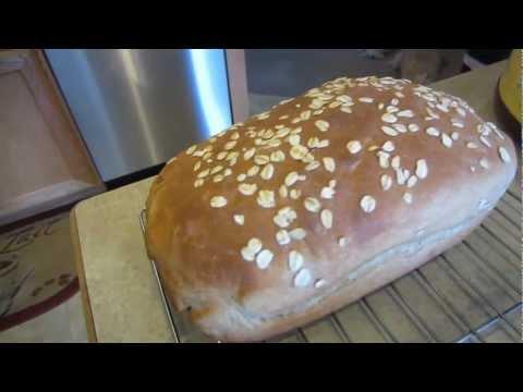 How to make Homemade Honey Oat Wheat Bread - 1080P HD !!