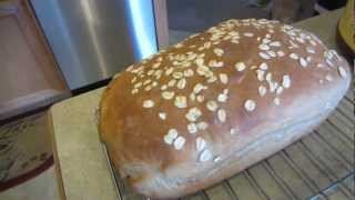 How to make Homemade Honey Oat Wheat Bread - 1080P HD !!