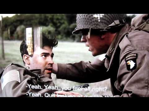 Captain Lewis Nixon Gets a bullet to the helmet