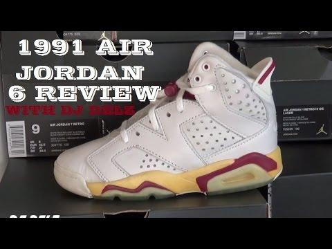1991 Air Jordan 6 Maroon OG Sneaker