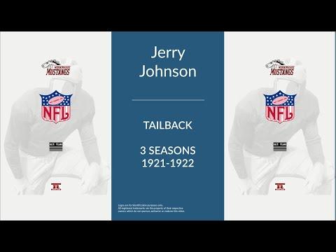 Jerry Johnson: Football Tailback, Wingback, Fullback, and Blocking Back