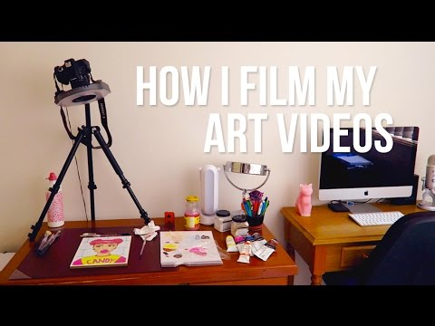 How I Film My Art Videos + Quick Art Studio Tour // Emma Maree