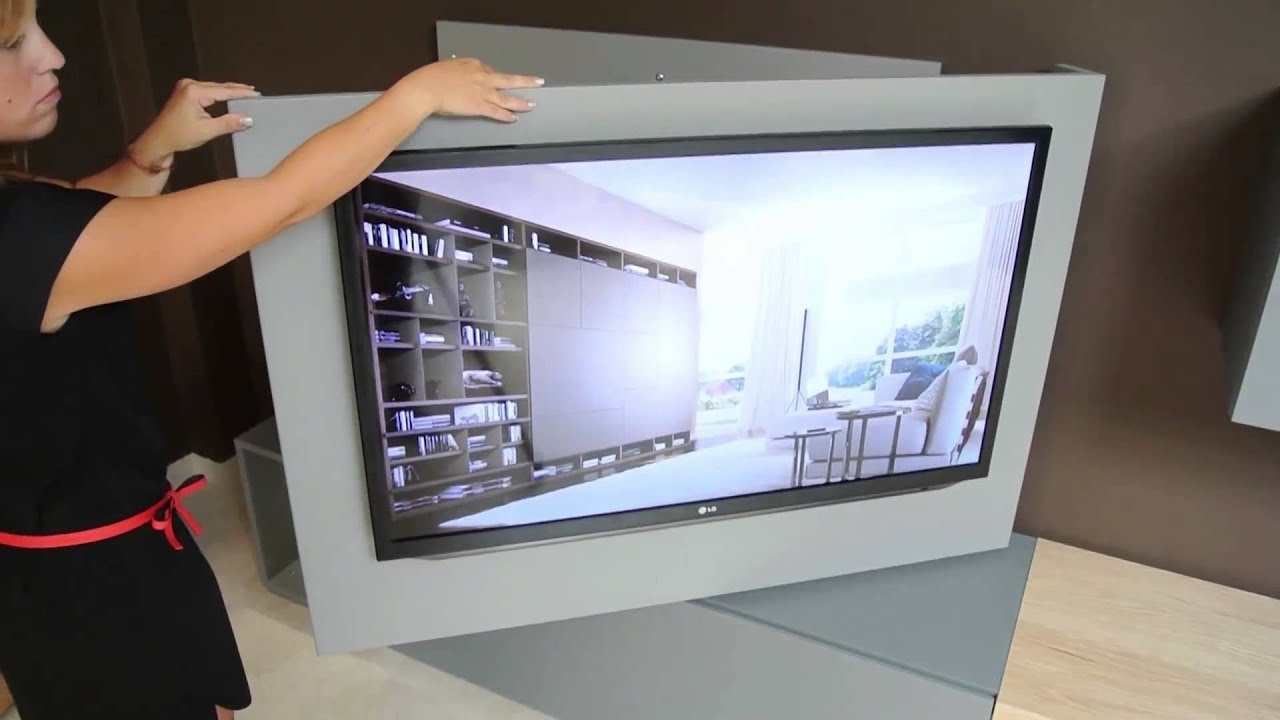 Porta tv orientabile x2 di astor giussano youtube - Porta tv girevole ikea ...