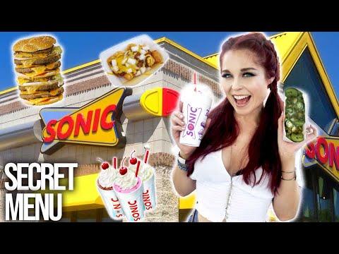 TRYING SONIC FAST FOOD SECRET MENU HACKS