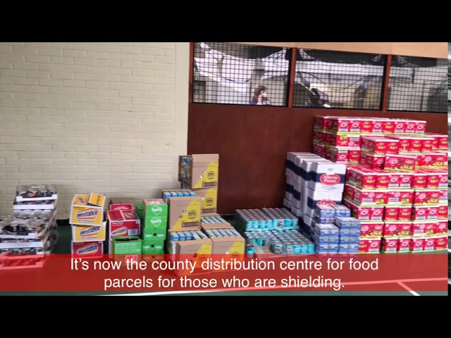 Visiting the Bookham Youth Centre, where Food Parcels are Being Distributed