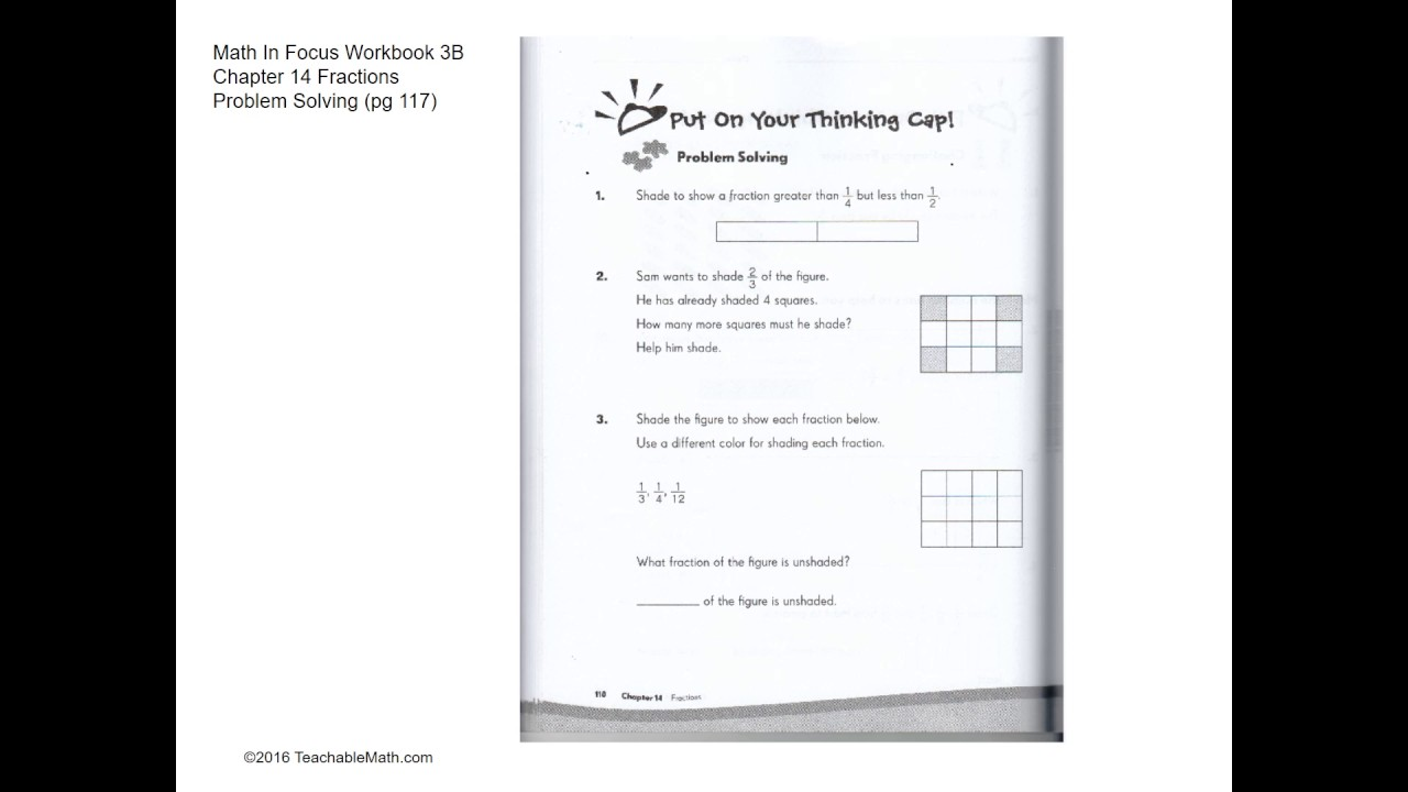 MIF Workbook 3B Solutions Chapter 14 Fractions Problem Solving (Pg ...