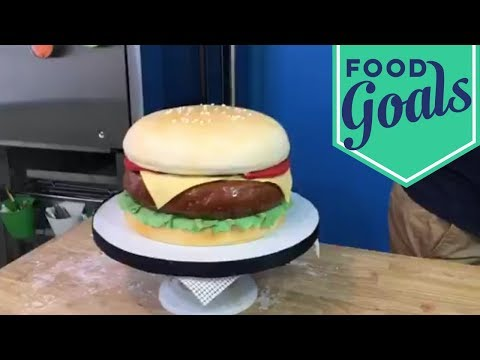 Lookalike Cheeseburger Cake | Food Network