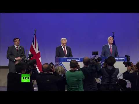 LIVE: David Davis & Michel Barnier hold joint presser on Brexit talks