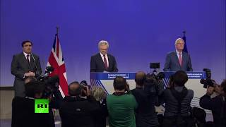 LIVE: David Davis & Michel Barnier hold joint presser on Brexit talks