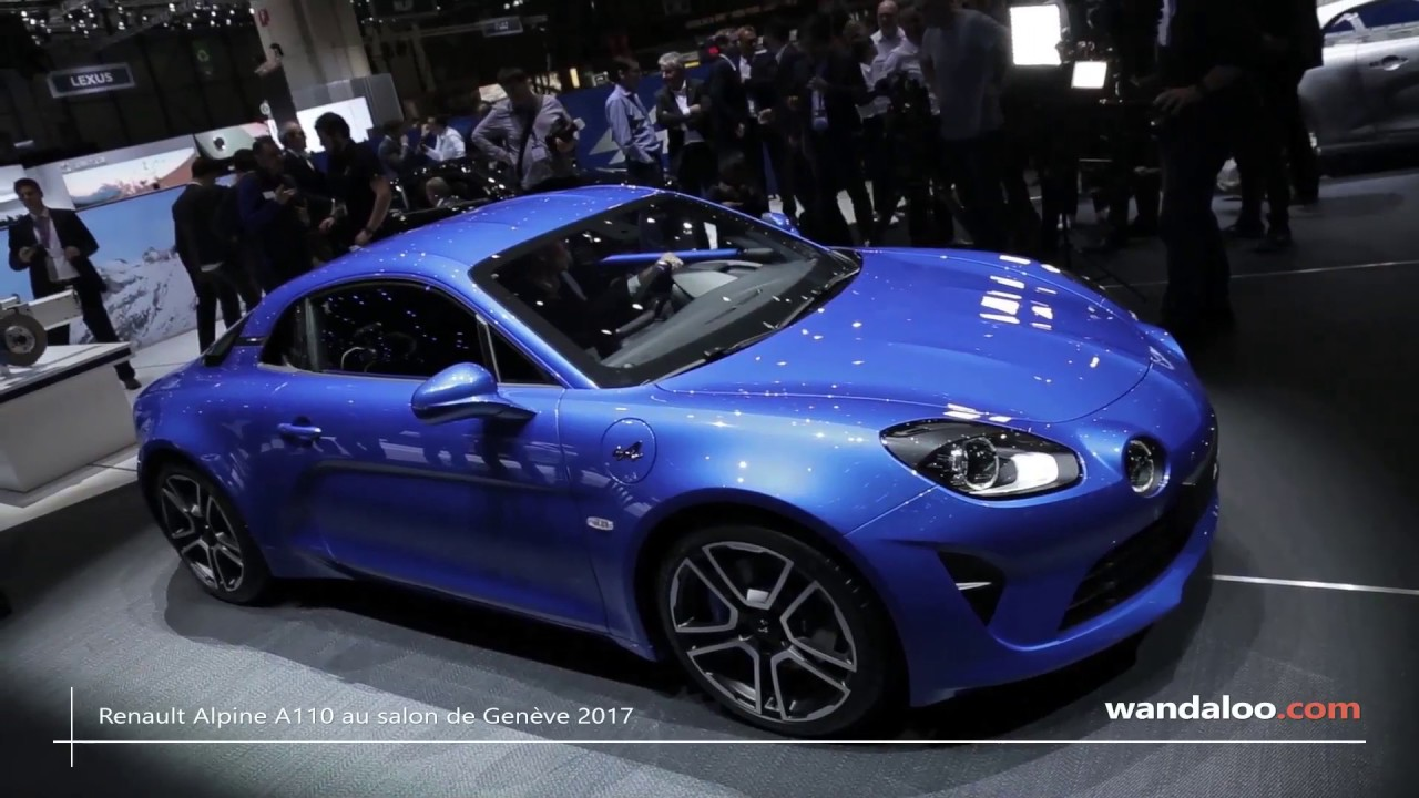 renault alpine a110 au salon de gen ve 2017 youtube. Black Bedroom Furniture Sets. Home Design Ideas