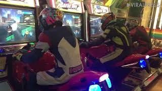 Bikers Play Motorcycle Racing Arcade Games