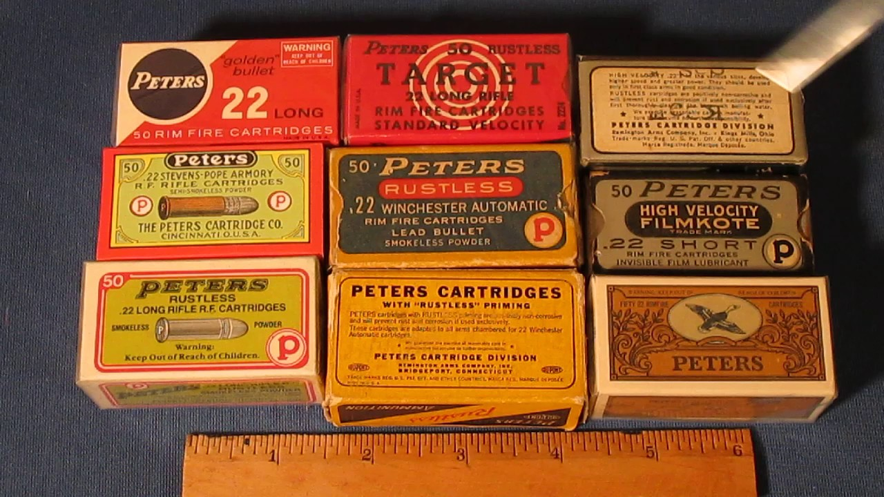 from Garrett dating vintage ammo boxes